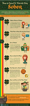 Infograhic on how to spend St. Patrick's Day sober